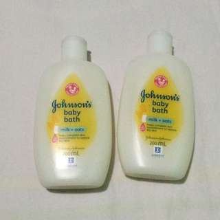 Bundle 2 (200ml) Johnson and Johnsons milk+oats baby bath