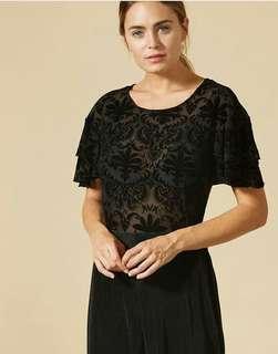 Black top velvet