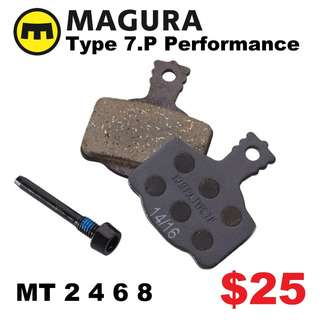 Magura Type 7.P Performance Disc Brake Pads for MT 2 4 6 8 --------  (Magura MT2 MT4 MT5 MT5e MT6 MT7 MT8 Trail XTR M9020 XT M8020 M8000 M785 SLX M7000 M675 M315 ) DYU