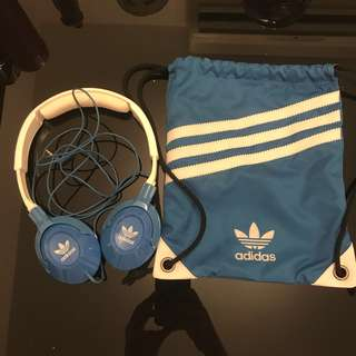 Sennheiser HD 220 Adidas Originals crossover headphones - blue & white