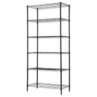 6 Tier Heavy Duty Extra Large Wire Storage Rack with wheels