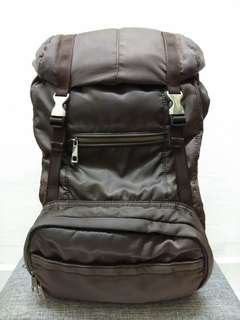Backpack with Round Studs [ Brown ]