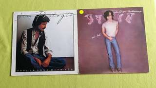 JOHN COUGAR ● JIM PHOTOGLO .  mellencamp uh-huh / fool in love with you. ( buy 1 get 1 free )  vinyl record