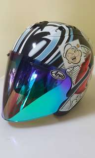 3105***TSR RAM4 NAKANO CONVERT to ARAI Helmet For Sale 😁😁Thanks To All My Buyer Support 🐇🐇 Yamaha, Honda, Suzuki