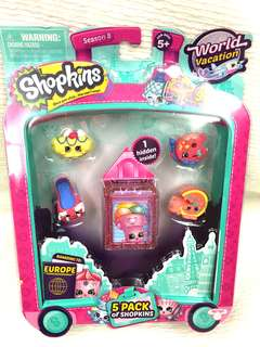 Shopkins season 8 world vacation 5 pack