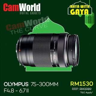 OLYMPUS 75-300mm 4.8-6.7 ii