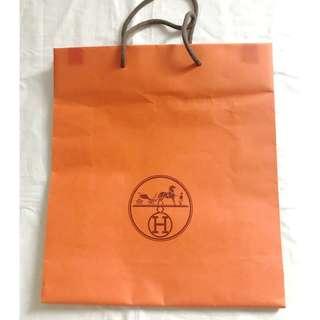 Hermes medium size shopping bag 購物紙袋
