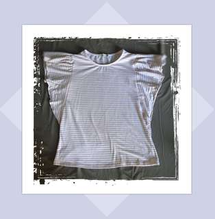 Repriced! Berska Top in Stripes (Pink and White)