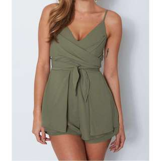WHITE FOX BOUTIQUE Olive Playsuit