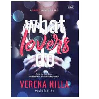 Ebook What Lovers Do - Verena Nilla @scholaztika