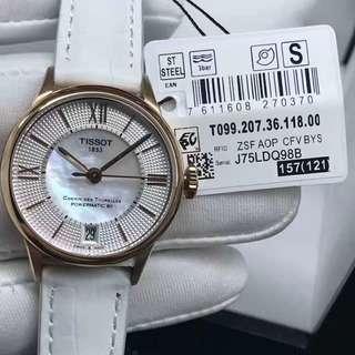 ️Tissot天梭官方杜魯爾機械皮帶女錶T0992071611800,(🈶️2⃣️色皮帶鋼帶均🈶️)錶盤直徑約32mm,非常漂亮非常洋氣的一款手錶🌹🌹🌹少量現貨錯過沒🈶️哦☺️☺️ ☺️,
