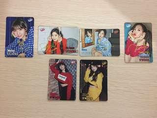 TWICE YES! 專輯卡 - JI HYO , MOMO , MINA , NA YEON , DA HYUN