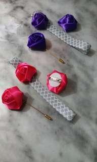 🌹 Hari Raya Special //  Satin rose Accessories Set