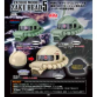 PRE-ORDER : Bandai Capsules - Exceed Model Zaku Head 5 (Set of 3)