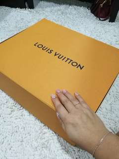 💯AUTHENTIC XL BOX Louis Vuitton Paperbag original bag empty box package packing packaging paper lv storage big large xl