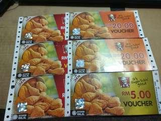 RM105 for RM115 KFC Voucher