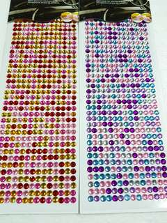 Round Rhinestone Sticker  ↪ Multi Colour 💱 $5.90 Each Packet
