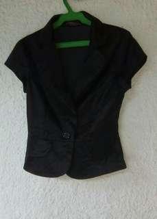 Capped Sleeves Blazer