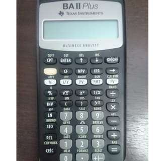 Texas Instruments BA II Plus Financial Calculator