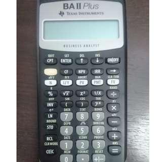 Texas Instruments BA II Plus Financial Calculator