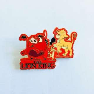 美國迪士尼 Disney Lion King 獅子王 辛巴 Simba 丁滿 彭彭 pin 襟章 徽章