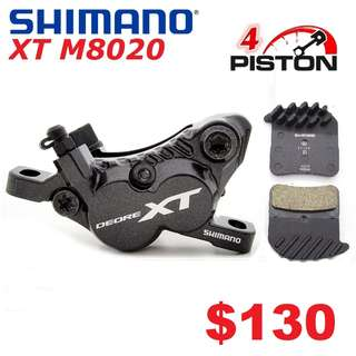 Shimano XT M8020 Brake Caliper ONLY-------- (XTR M9020 XT M8020 M8000 M785 SLX M7000 M675 M315 MT2 MT4 MT5 MT5E MT6 MT7 MT8 Trail) Dyu