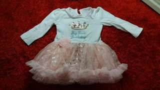 Tutu dress- 1yr birthday theme