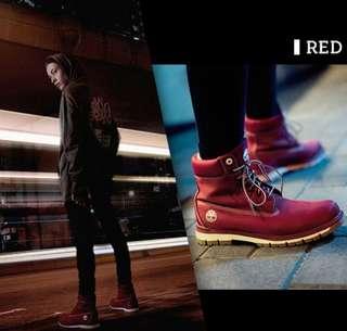 全新 Timberland 七武士系列 男紅武士款 帆布靴