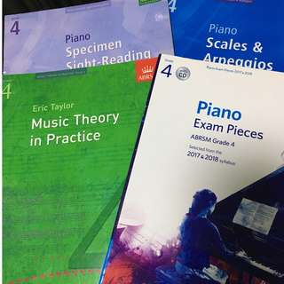 ABRSM Grade 4 Piano and Theory Exam Pieces with CD 2017-2018, Eric Taylor Theory in Practice, Scales and Arpeggios, Sight reading