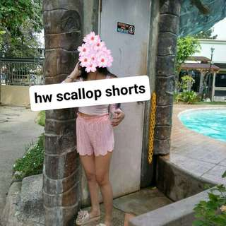 Hw scallop shorts