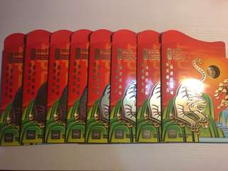 Bulk Sale- 8 sets *2010 Tiger Angbao coin set with original packing