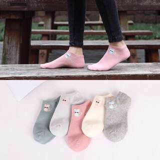 Cute Pastel Cat Socks