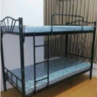 Black Steel Bunk Bed For Sale (foam not included)