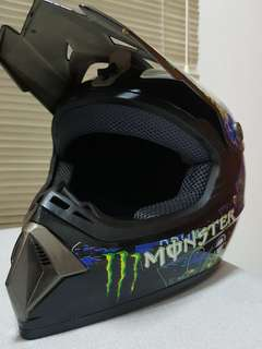 Monster Full Face Helmet E-Scooter MTB DH Offroad MotoX
