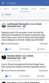 DAF Fuel Additive positive feedbacks