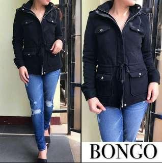 BONGO Hooded Jacket Black sz L