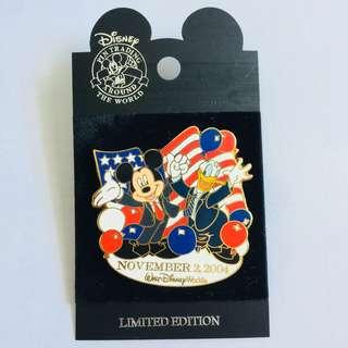 美國迪士尼 Disney Mickey Donald 米奇與唐老鴨 限量LE pin 襟章 徽章