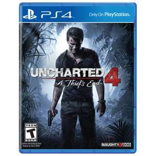 PS4 Game: Uncharted 4: A Thief's End