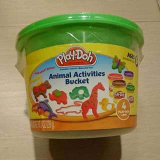 New In Sealed Playdoh Animal Activities Bucket Hasbro Age 3+