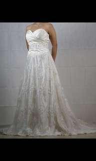 婚紗 拖尾 綁繩婚紗