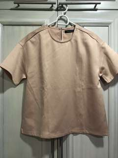 Folded and Hung Nude Boxy Top