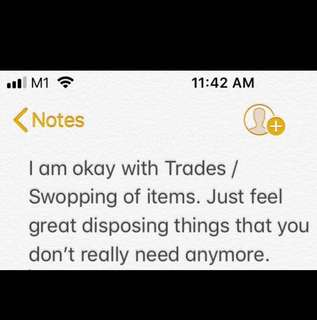 Trades / swopping