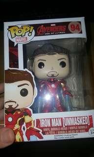 Funko Pop Marvel Avengers Iron Man unmasked Ironman