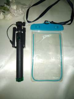 Selfie Stick and Water Proof Phone Case