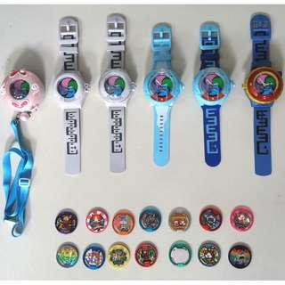 Assorted Original Yo-kai (Yokai) Watches and Medals
