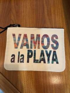 "Rafe New York ""Vamos à la Playa"" Canvas Clutch Bag"