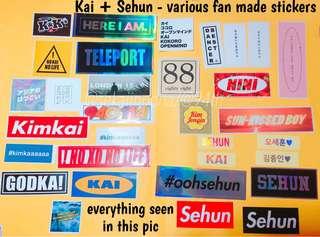 EXO | Kai / Jongin + Sehun - various fan made stickers