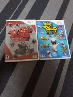 Preloved wii games / Raving Rabbids Party collection / Metal Slug Anthology