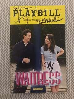 Waitress Playbill signed by Sara Bareilles