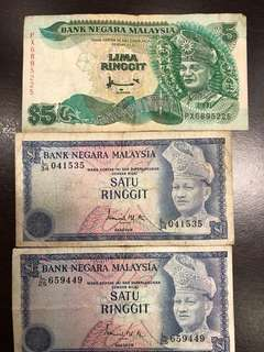 Old ringgit notes